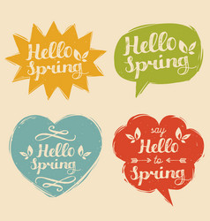 Typography say hello to spring vector