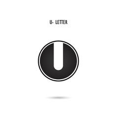 U-letter abstract logo vector