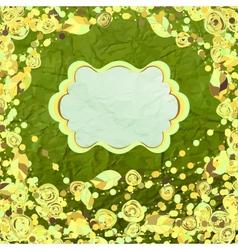 Vintage Floral Pattern Card vector image
