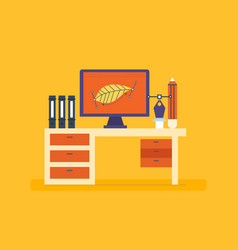 Work and workplace design training creativity vector