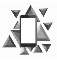 Modern smartphone triangular background vector
