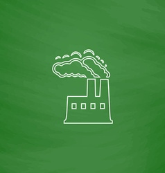 Power plant computer symbol vector