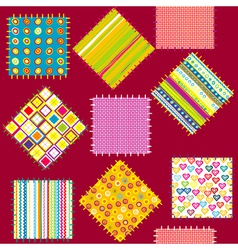 Background with set of colored patterns vector