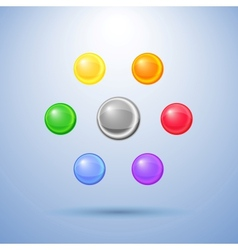 Shiny buttons with shadow vector image