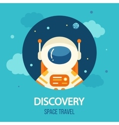 Cosmos discovery poster exploration theme vector