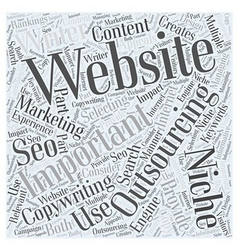 Internet marketing and outsourcing word cloud vector