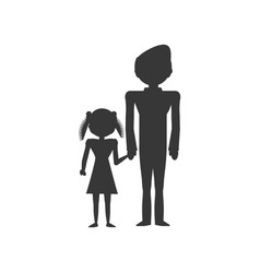pictogram family people lifestyle vector image