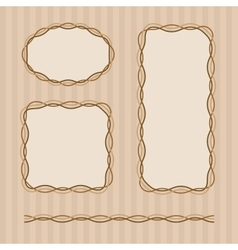 Frame set in brown colors vector image