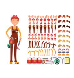 female technician cartoon character woman vector image
