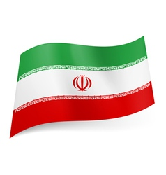 State flag of iran vector