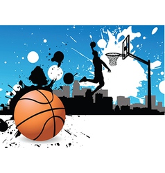 Artistic basketball vector