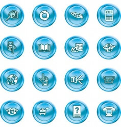 computing icon set vector image