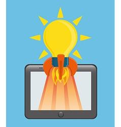 Start up business design vector image