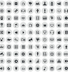 100 cinema icons vector