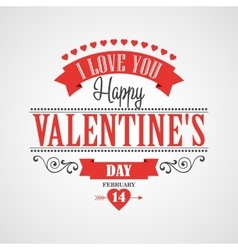 Happy valentines day lettering card typographic vector