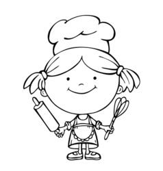 girl cook 1 vector image