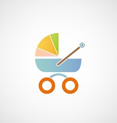 Logo baby carriage vector
