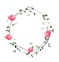 Floral concept of circle frame vector