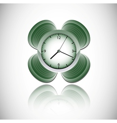 Green clock vector