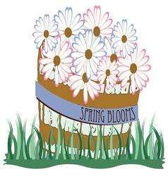 Spring blooms vector