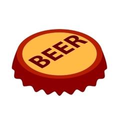 Beer bottle cap icon isometric 3d style vector