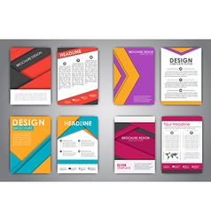A set of brochures in the style of the material vector