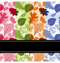 Colorful four season leaves vector