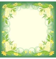 Background leaves flowers vector image vector image