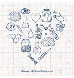 Biology or Medicine Science Background vector image