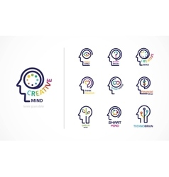 Brain Creative mind learning and design icon vector image vector image