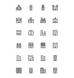 Buildings and furniture 2 vector