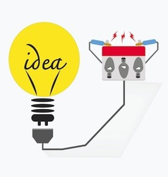 bulb electricideas concept vector image