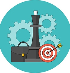 Business strategy concept Flat design Icon in vector image