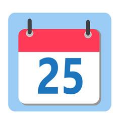 christmas date - 25 december modern calendar icon vector image