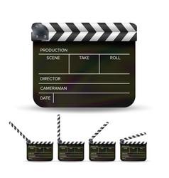 Clapper board black cinema clapper vector