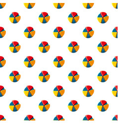 Colorful pie chart pattern vector