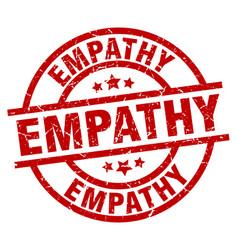 Empathy round red grunge stamp vector