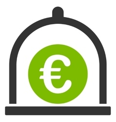 Euro standard icon from Business Bicolor Set vector image
