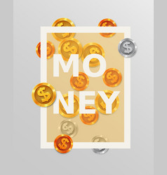 finance design elements background with coins or vector image vector image