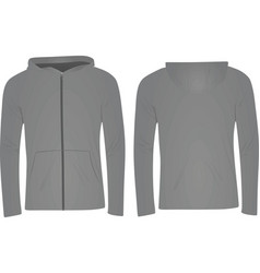 Gray hoodie vector
