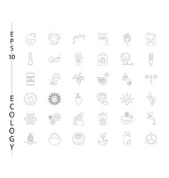 Green ecology and environment icon set in format vector