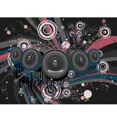 Grunge loud speaker2 vector