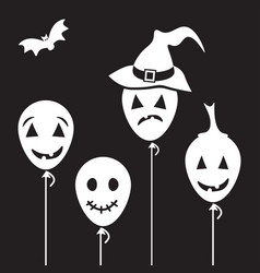 halloween cartoon characters vector image