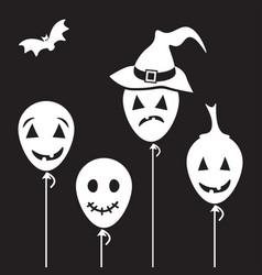 halloween cartoon characters vector image