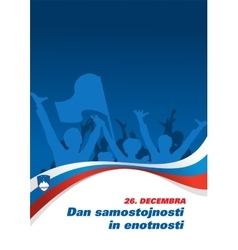 Independence and Unity Day in Slovenia vector image