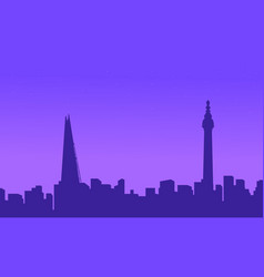 landscape of london city building silhouettes vector image