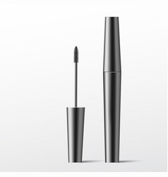 mascara brush cosmetics makeup realistic 3d vector image