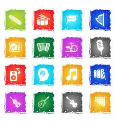 Music icon set vector
