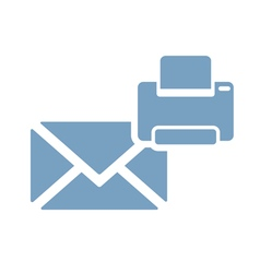 print mail icon vector image vector image