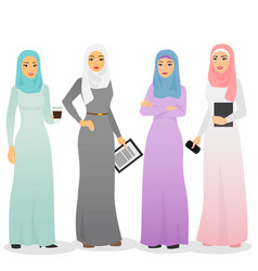 set of business arab women vector image vector image